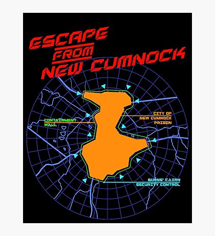 Escape From New Cumnock Title Map Photographic Print