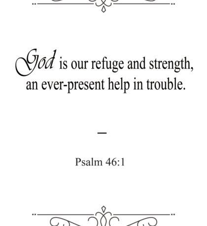 Psalm 46:1 Bible Verse Sticker