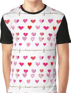 Cute Hearts Graphic T-Shirt