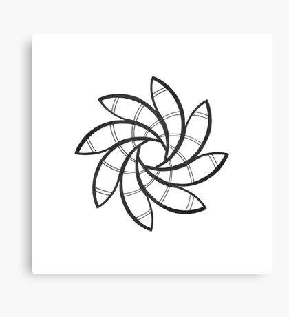 Mandala #219 || Mono Canvas Print
