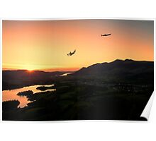 Lancasters Flying Over Keswick Poster