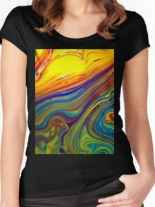 psyche fun art colorful Women's Fitted Scoop T-Shirt