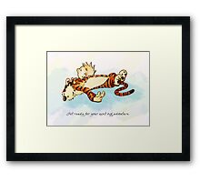 Calvin and Hobbes Resting Framed Print