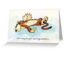 Calvin and Hobbes Resting Greeting Card