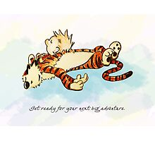 Calvin and Hobbes Resting Photographic Print