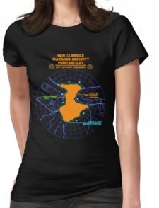 Escape From New Cumnock Penitentiary Map Womens Fitted T-Shirt