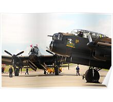 The last two flying Lancasters at RAF Waddington Poster