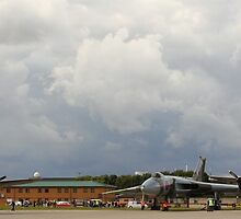 The last two flying Lancasters and Vulcan at RAF Waddington by Jonathan Cox