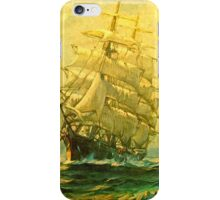 Sailing ship crosses the Atlantic iPhone Case/Skin