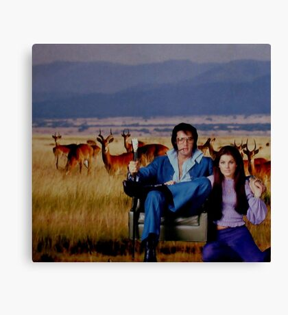 The King and His Queen Canvas Print