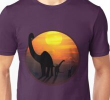 Sauropod Dinosaurs at Sunset Unisex T-Shirt