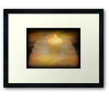 God's Love Melts Away The Darkness Framed Print