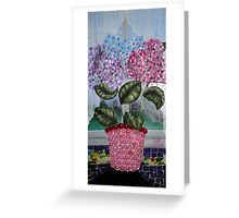 Bra-drangeas in bloom Greeting Card