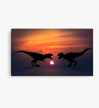 Tyrannosaurus - Sunset Showdown Canvas Print