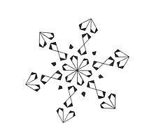Mandala #221 || Mono by RedBookJournals