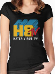 H8 TV Logo. Women's Fitted Scoop T-Shirt