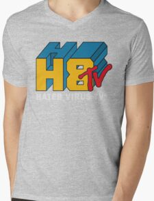 H8 TV Logo. Mens V-Neck T-Shirt