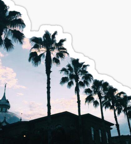 Palm Tree Sunset Scene Sticker