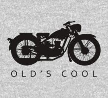 Old's Cool - Vintage Motorcycle Silhouette (Black) by SandpiperDesign