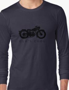 Old's Cool - Vintage Motorcycle Silhouette (Black) Long Sleeve T-Shirt