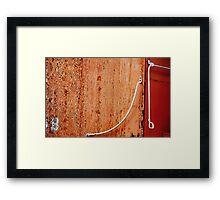 Caboose Detail Framed Print