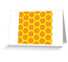 Orange honeycomb background Greeting Card