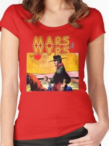 Mars Travels. Women's Fitted Scoop T-Shirt