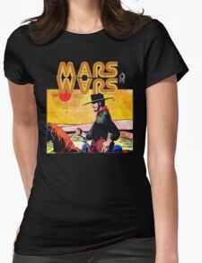 Mars Travels. Womens Fitted T-Shirt