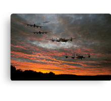 At The Going Down Of The Sun Canvas Print