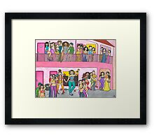 Motel Party Framed Print