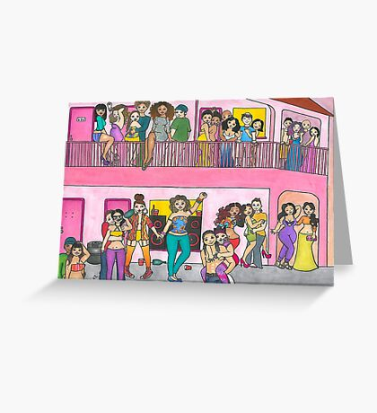 Motel Party Greeting Card