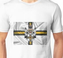 Teutonic Order - Coat of Arms over Flag Unisex T-Shirt