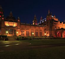 Glasgow Kelvingrove Art Gallery and Museum at Night by Maria Gaellman
