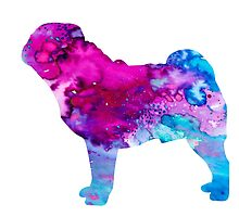 Pug 3 by Watercolorsart