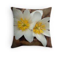 First Blossoms Throw Pillow