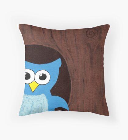 Peekaboo Owl Throw Pillow