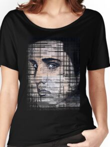 Elvis Presley original  ink painting Women's Relaxed Fit T-Shirt