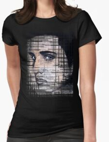 Elvis Presley original  ink painting Womens Fitted T-Shirt