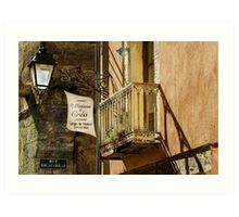 Shop Balcony Art Print