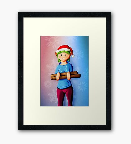 Holiday Elf Help Framed Print