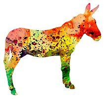 Donkey 2 by Watercolorsart