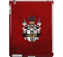 Teutonic Order - Coat of Arms over Red Velvet iPad Case/Skin