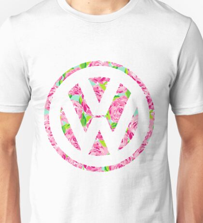 Watercolor Rose Volkswagen VW logo Unisex T-Shirt