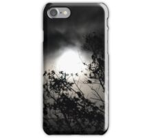 Halo Moon through Trees iPhone Case/Skin