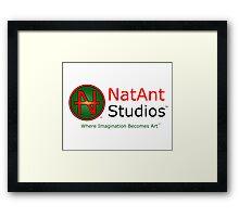 NatAnt Studios' NA Logo and slogan Framed Print
