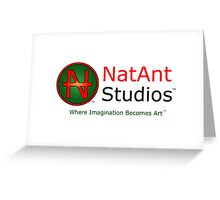 NatAnt Studios' NA Logo and slogan Greeting Card