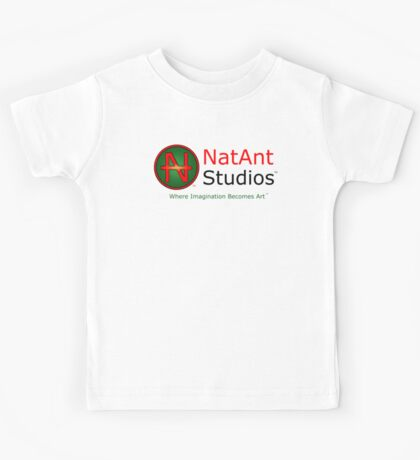 NatAnt Studios' NA Logo and slogan Kids Tee