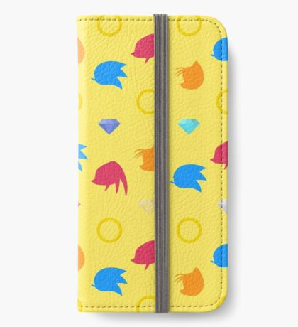 Sonic, Knuckles and Tails with Chaos Emeralds (yellow) iPhone Wallet/Case/Skin