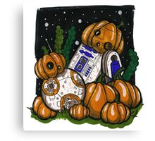 Pumpkin bots! Canvas Print