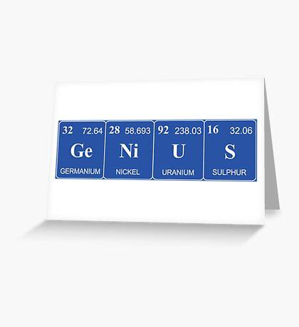 Elemental Genius - Light Lettering Greeting Card